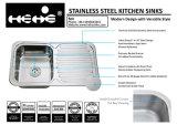 Bassin de cuisine simple de cuvette de support de dessus de l'acier inoxydable 32-1/4 x 18-3/4 avec le panneau de drain