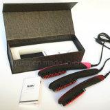 2016 Nouvelle arrivée de brosse à cheveux ioniques avec revêtement en céramique Nasv Brossure à cheveux Stratifiant électrique à cheveux LCD Straightening