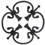 Garderの装飾装飾用の部品によって造られる鋼鉄葉