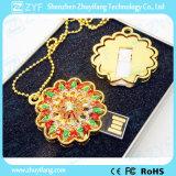 金の日曜日の花の吊り下げ式の宝石類USBのフラッシュ駆動機構(ZYF1914)