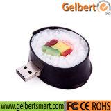 新しい寿司ロール食糧モデルPVC USB 2.0のフラッシュ駆動機構