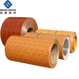 À l'intérieur Dercoration de pierre en bois de la bobine en aluminium à revêtement de couleur imprimée