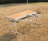 Кемпинг многофункциональной рукоятки из алюминиевого сплава, складного стола для использования вне помещений портативный складной стол