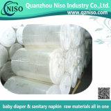 Nonwoven respirable de Spunlace pour les chiffons humides/les matières premières couche-culotte de bébé