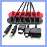 Fördernder Kabelklemme-Silikon-Netzkabel-Organisator-Draht-Verpackungs-Halterung-Kabel-Organisator