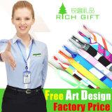 Acollador de nylon del regalo de la impresión promocional del traspaso térmico con aduana de la insignia