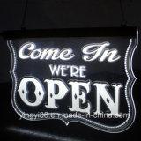 Знак СИД открытый, супер яркая освещает вверх открытый знак, загоранный вися знак магазина