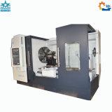 Grande CNC della base piana Ck61100 che gira il tornio idraulico vuoto del mandrino