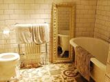 建築材料の普及した黄色い格子陶磁器の浴室の台所床タイル