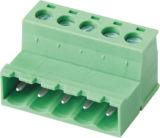 Maschio e blocchetto terminali alimentabile/Pluggable femminile con il conduttore (WJ2EDGKR-5.08)