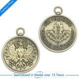 OEM中国は旧式な真鍮の押す記念品賞メダルをカスタマイズした