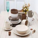 30 PCS Conjunto jantar em cerâmica com glacê Seesame