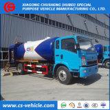 Sinotruk HOWO 4X2 6tons LPG Tanker-LKW, 12000L LPG Bobtail mit rechtem Laufwerk