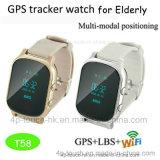 大人T58のための2017 GPS+Lbs+WiFiの位置GPSの追跡者の腕時計