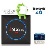 I92 PRO Android Market 7.1.2 Google Internet TV Caixa com Amlogic S912 com núcleo quádruplo 64bits 2GB/16 GB /5.8GHz 2,4GHZ Suporte WiFi Bluetooth HD 4K 4.0