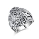 Anello dei monili di costume dell'argento dell'annata dell'anello del legame di Marcasite