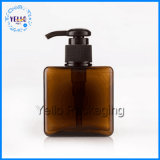 250ml bottiglia quadrata della plastica dello sciampo PETG