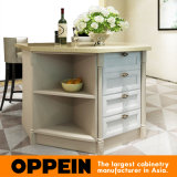 섬 (OP15-S15)를 가진 Oppein Classic Solid Wood Curved Kitchen Furniture