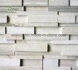 Pietra di marmo di legno bianca graziosa moderna della coltura M231 per il rivestimento murale ed il rivestimento
