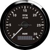 Populaire 85mm Tachometer T/min Meter met Hour Meter 03000rpm met Backlight voor Dieselmotor