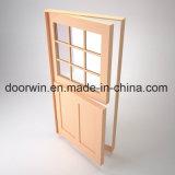 2018 [برسلّ] خشبيّة باب أبواب خارجيّة خشبيّة [دوتش دوور] مع تصميم علبيّة زجاجيّة