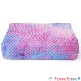 De purpere Handdoek van de Yoga van het Silicium van Microfiber van de Kleurstof van de Band Antislip