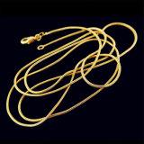 人の女性のネックレス優雅なパターン金のカラーによってめっきされるヘビの鎖