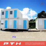 Flat Pack and Size Customized Prefabricated Container House pour bureau / Living Home