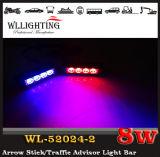 警察LEDの前部グリルLEDのヘッドライトの赤い青のための警告のストロボライト車LEDの標識燈