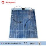 100W полимерная алюминия частично гибкая солнечная панель с алюминиевой задней панели