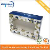 Caja de regalo de papel de encargo con la ventana clara (QYZ013)
