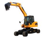 Activo X90E 9Ton nuevo modelo de diseño de la excavadora Wheel-Crawler con motor Yanmar de venta