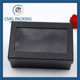 Rectángulo de papel de Keychain con la ventana clara del PVC (CMG-AUG-017)