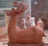 PolyresinのシカStatue2の屋外の庭のPolyresinの彫刻の絵画装飾