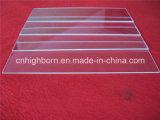 Placa de cristal de cuarzo transparente de la pureza elevada