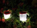 Blanc ou coloré éclairage LED solaire gonflable souffle la lumière en plastique rechargeable de lampe avec le détecteur humain