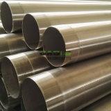 Tubo dell'intelaiatura del pozzo d'acqua dell'acciaio inossidabile AISI304L 8in per la perforazione buona