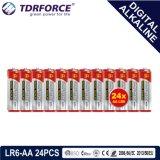 1.5V China Fertigung-Digital-alkalische trockene hauptsächlichbatterie (LR6-AA 6PCS)