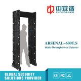 Tela de Toque 24 Zonas Visual da estrutura da porta de Alarme Sonoro do Detector de Metal