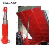O curso de ação única 800 mm do cilindro de óleo hidráulico do tubo telescópico para Caminhão Basculante