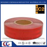 Cinta reflexiva del PUNTO del reflector rojo adhesivo del C2 para los acoplados (CG5700-OR)