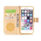2016 cajas coloridas de cuero del teléfono celular de la alta calidad/caja del teléfono móvil