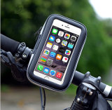 Horquilla impermeable del sostenedor del montaje del manillar de la cubierta de la caja del teléfono de la bolsa del bolso del teléfono del soporte de la bicicleta de la bici