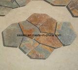 Azulejo de ardósia de pedra natural bege para revestimento