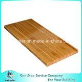 Planche en bois de pin, bloc de boucher en bois de partie supérieure du comptoir de panneau de décoration de compresse