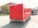 食糧車のガスBBQの酒保の移動式食糧トラックを販売する表示