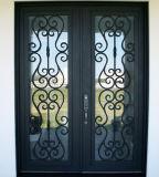 Fer forgé de style ancien porte à double entrée