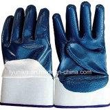 Хлопок голубой нитриловые 3/4 покрытием трикотажные перчатки для тяжелого режима работы