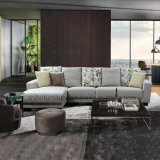 Sofà nordico del tessuto dell'angolo di stile per mobilia domestica