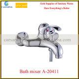 Grifo de cobre amarillo del lavabo de la fuente de China con el Ce aprobado para el cuarto de baño